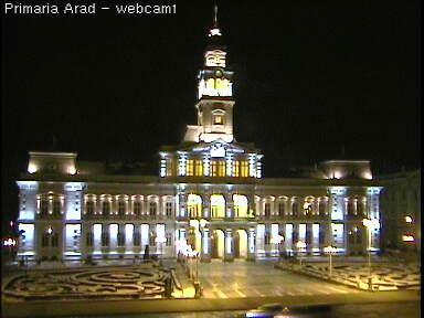 Web Camera Square - front of Arad City Hall , Arad, Romania
