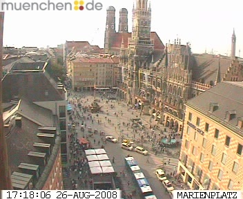 Web Camera Marienplatz, Church of Our Lady, Munich , Munich, Germany